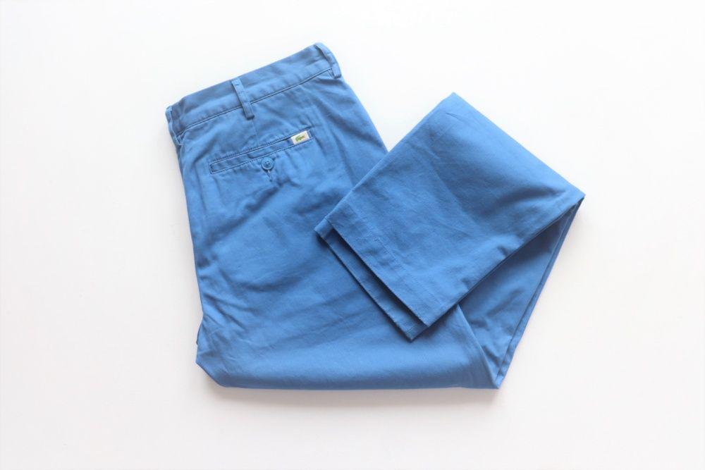 Spodnie męskie chinosy LACOSTE W34 L34 SLIM FIT niebieskie jak nowe! Węgierska Górka - image 1