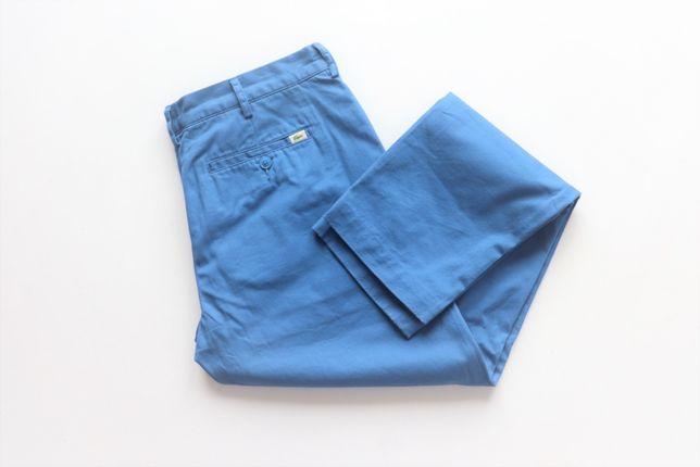 Spodnie męskie chinosy LACOSTE W34 L34 SLIM FIT niebieskie jak nowe!