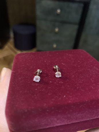 Сережки с бриллиантами, хорошей чистоты