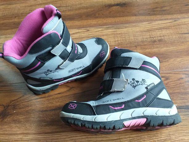 Buty zimowe r.33 soft shell śniegowce