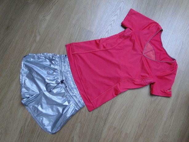 fitness sportowy zestaw koszulka REEBOK + spodenki nike 36 38