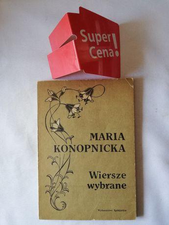 """książka """"wiersze wybrane"""" Maria Konopnicka"""