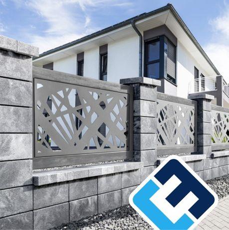 Pustak ogrodzenie betonowe DREWBET Cubo gładki JONIEC Horizon Roma