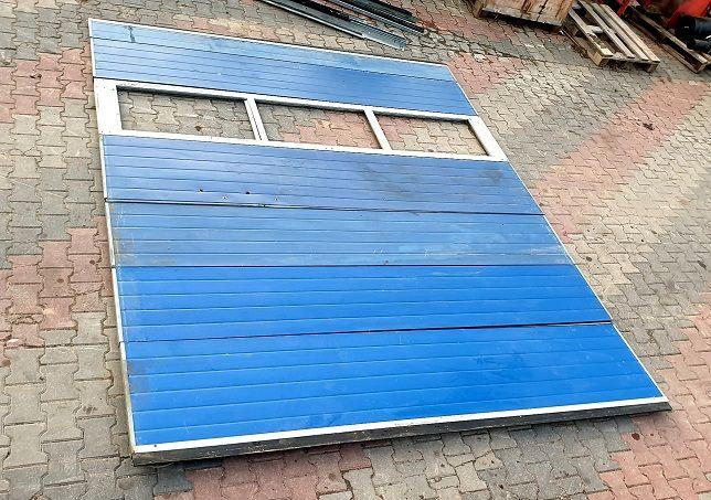 Brama garażowa warsztat segmentowa 3x3,5 wysoka ocieplana z oknem 2 sz