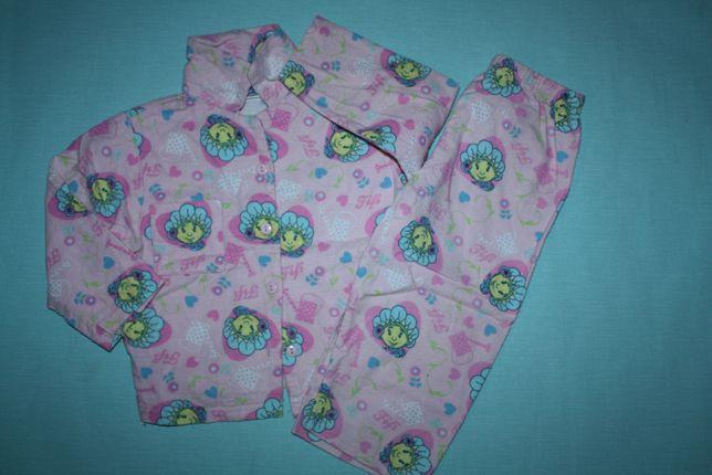 Пижама байковая красивая из мультика floverstots fifi 12/18идеальное