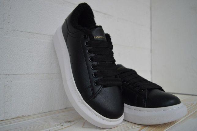 5037 Alexander MCQUEEN черные кроссовки зимние александр маквин ботинк