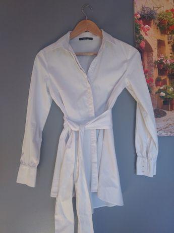 Biała koszula wiązana Mohito 34