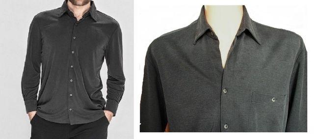 CULTURE męska koszula z szarej bawełnianej dzianiny M/48-50