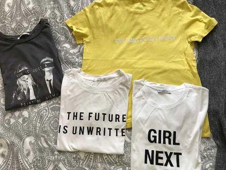 T-shirts Mango e Zara.