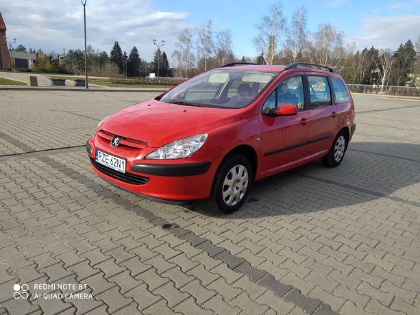 Peugeot 307 1.6 16v benzyna hak 2 kpl opon kombi klimatyzacja