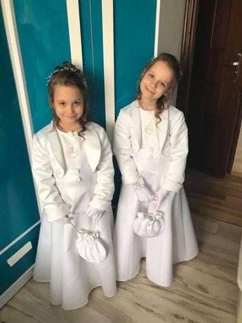 Sukienki komunijne z bolerkiem