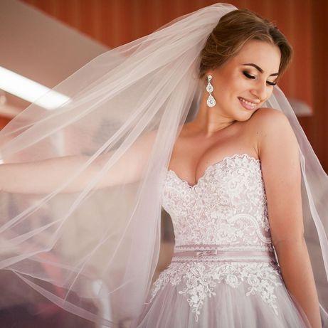 Весільне плаття з шлейфом