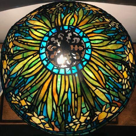 Lampa witrażowa Tiffany - 100% ręczna praca, polska pracownia!
