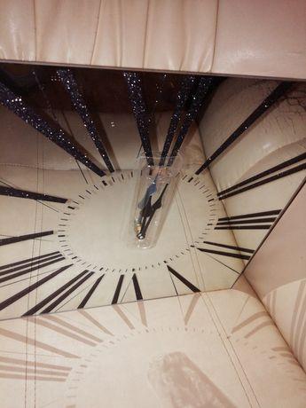 Zegar ścienny lustrzany z cyframi rzymskim 30x30cm