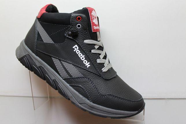 Reebok- черные зимние кроссовки - ботинки на меху.(18-2чер.мех)