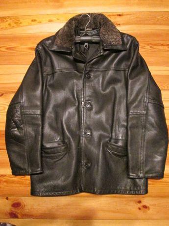 kurtka skórzana - oryginalna czarna skóra