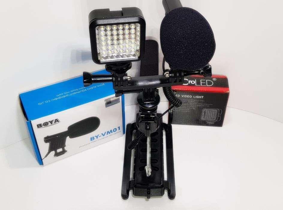 Pega em forma de C - Estabilizador de camera + Micro + LED - Novo - PG Faro - imagem 1
