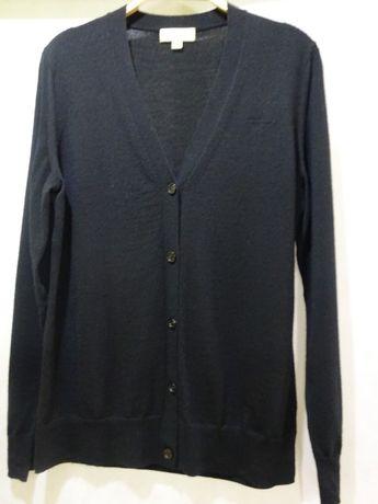 Piękny czarny sweter merino BURBERRY r. L