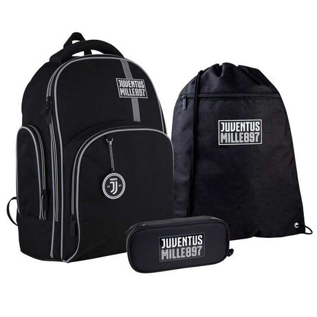 Школьный набор рюкзак + пенал + сумка Kite FC Juventus JV21-706M