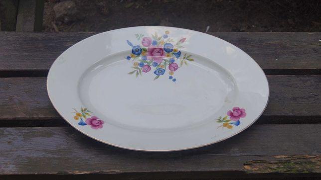 Porcelana Półmisek Chmielów Kwiaty stary antyk patera 38x25cm vintage