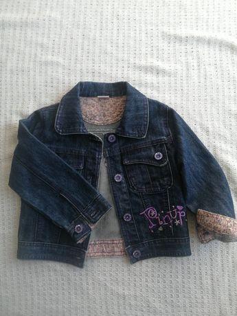 Kurtka jeansowa karana dla dziewczynki r92