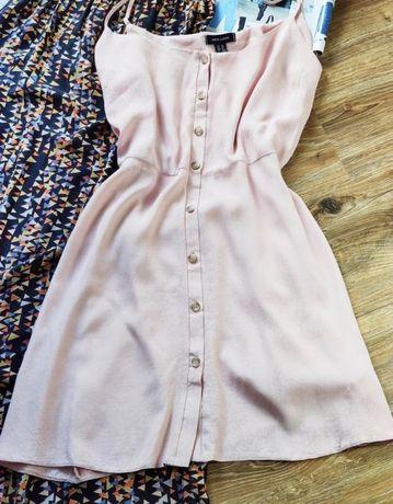 Сарафан шифоновый розовый новый new look M