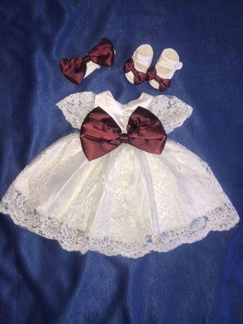 Платье на крещение 2-3 месяца