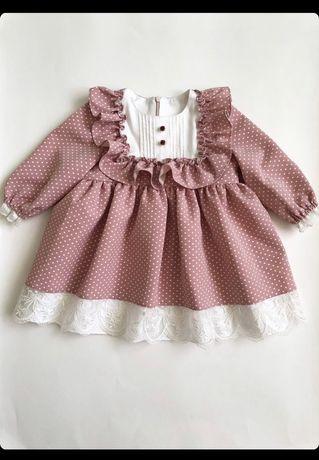 Нарядна сукня . Розмір : 12місяців, 82 см