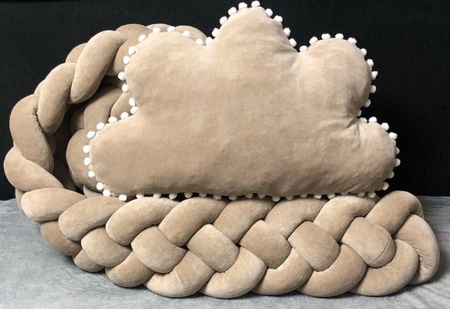 Бортики в кроватку коса косичка защита в кроватку балдахин постельное
