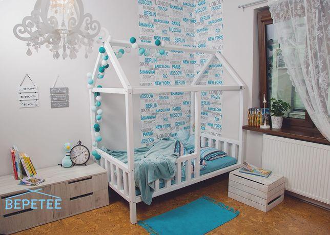 Drewniane Łóżko dziecięce łóżeczko domek,łóżko dla dziecka bepetee.pl