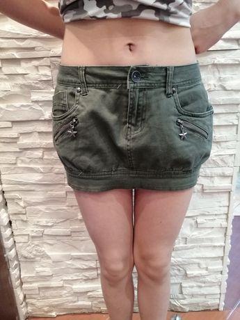 Spódnica Terranova khaki mini roz.36 S bojówka