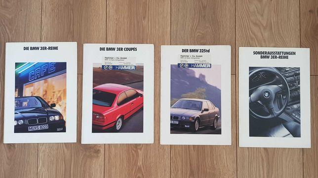 Katalogi Prospekty BMW e36 Reihe Coupe TD wyposażenie
