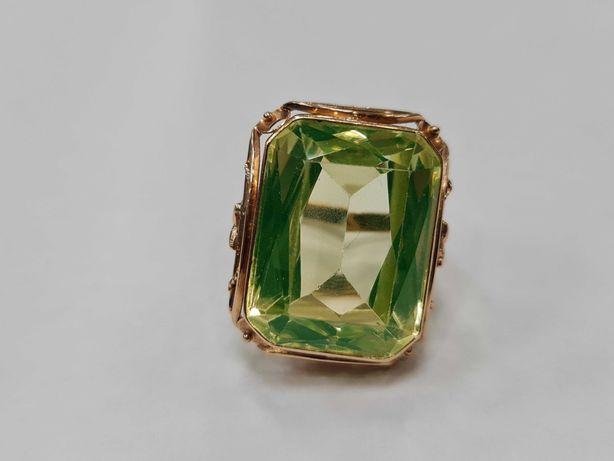 Wiekowy, ręcznie robiony złoty pierścionek damski/ 585/ 16.65 gr/ R17