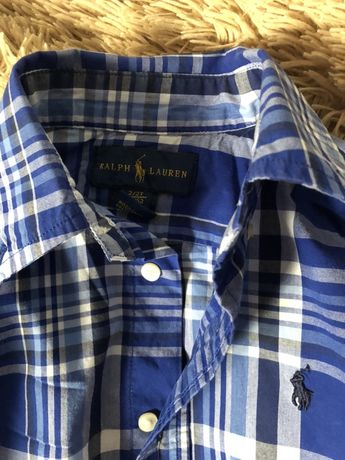 Детская рубашка с длинным рукавом Ralph Lauren. 2года