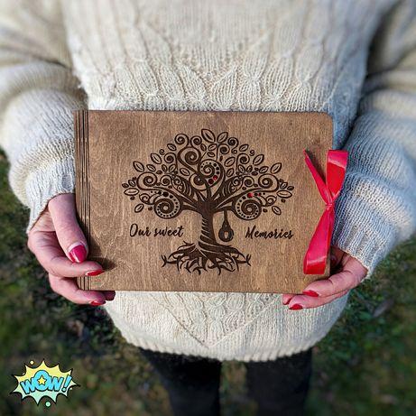 WOW! Фотоальбом из дерева - Подарунок на річницю! Ціну Знижено!