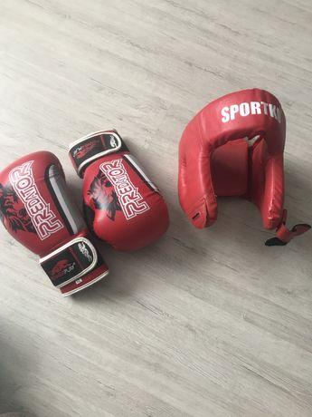 Шлем боксёрский(кикбоксинг)и перчатки