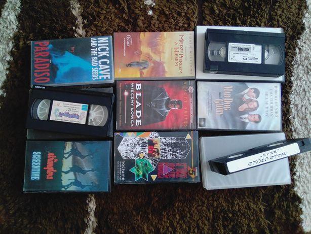 Kasety VHS.magnetofonowe i płyty cd