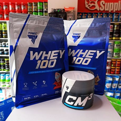 ZESTAW Odżywek TREC Białko Whey100 1,8kg i kreatyna CM3 250g, Odżywki