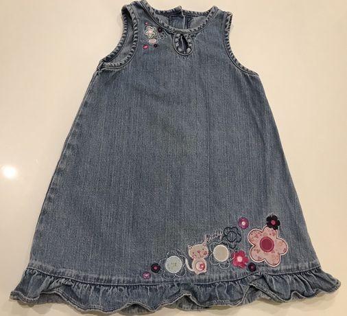 Sukienka jeansowa, rozmiar  86/92