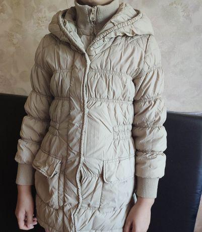 Демисезонное пальто - куртка стеганая на 9-10 лет