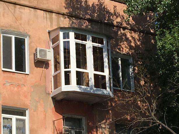 Балкон под ключ установка рам общивка