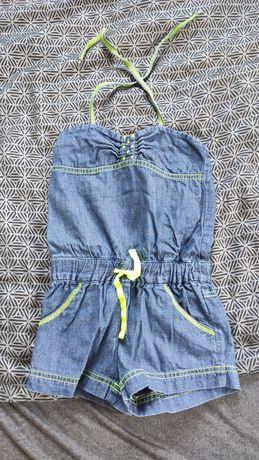 Kombinezon dla dziewczynki na 3- 4 lata jeansowy