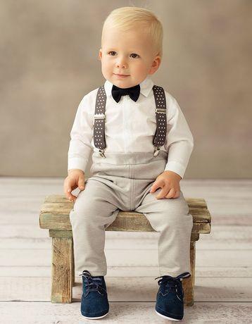 Elegancki komplet chłopięcy chrzciny (firma Balumi)