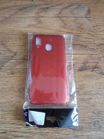 Etui Samsung A40 czerwone, slim frosted matt
