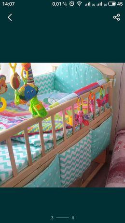 бортики в кроватку, постельное подушка одеяло