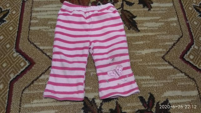 Флисовие штаны для девочки