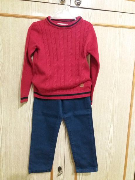 Комплект свитер джинсы рост 104