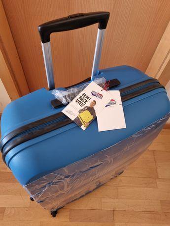 American Tourister Bon Air Spinner 75cm 91L Seaport Blue - mala viagem