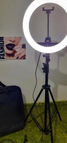 LED - лампа / Кольцевая / (Селфи + штатив) / (от USB, ангельские глазк