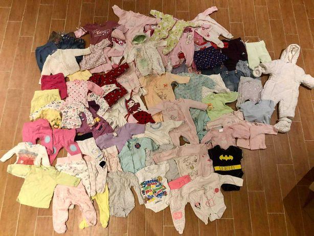 Mega zestaw ubranek dla dziewczynki 56-62 !!!